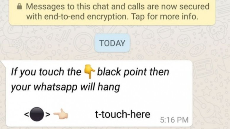 WhatsApp Black Dot Message Crashes Android Phones